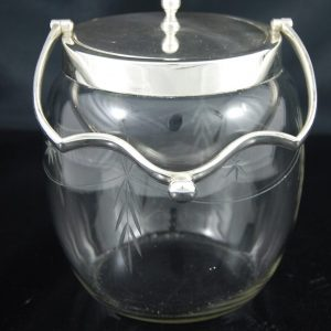 ガラスのビスケットバレル 星型