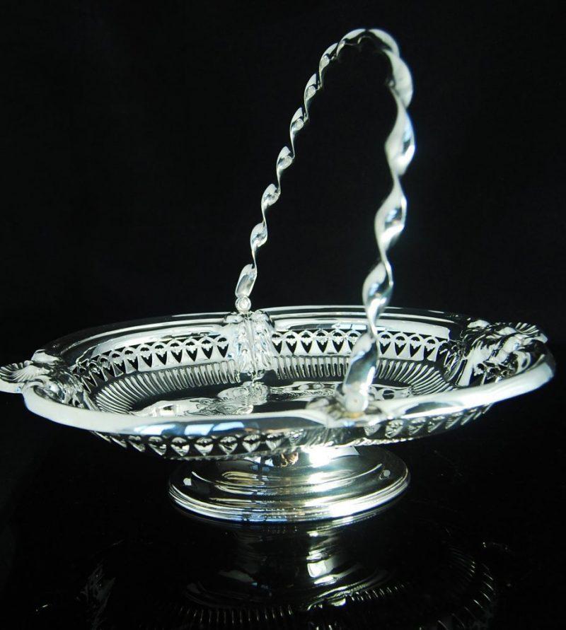 Elegant Silver Plated Basket