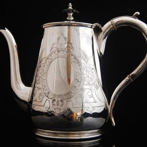 antique silver plated tea pot