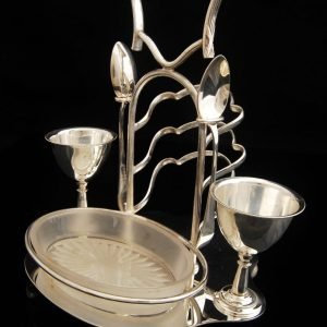 Antique English Silver Plated Breakfast serving set  c.1880