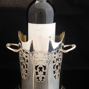 Silver Plated vintage wine holder