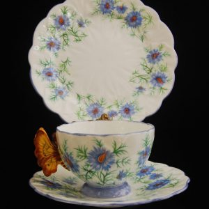 "Butterfly cup Aynsley ""Love in the Mist"" Pattern."