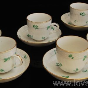 Herend porcelain set of 6coffee cup and saucers