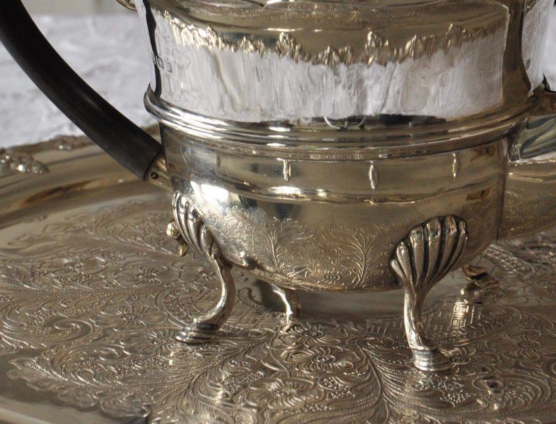 純銀 エドワーディアン ティーポット