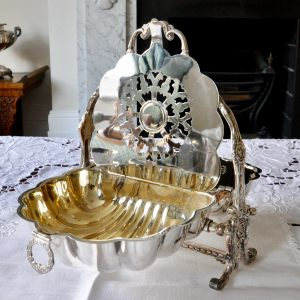 VictorianSilver Plated Original Biscuit Warmer.