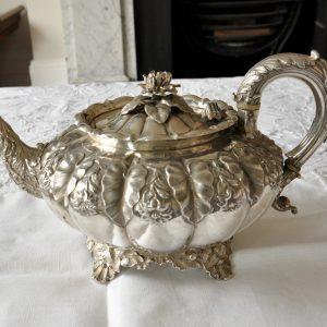 ジョージ4世 純銀 アンティーク ティーポット Edward Barnard & Sons