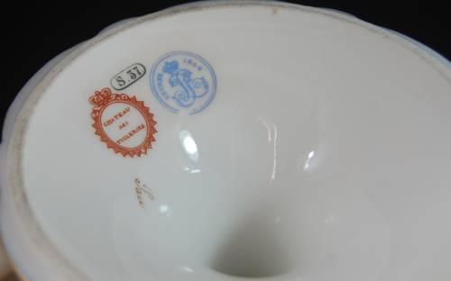 アンティーク セーヴル ブルー 飾り皿 コンポート