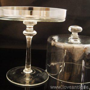 アンティーク ガラスのコンポート