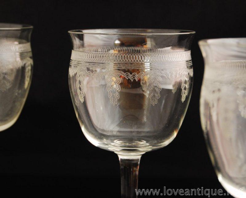 エドワディアン ワイングラス 5客セット
