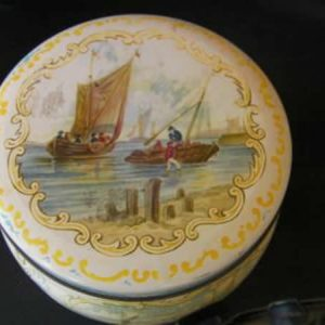 Antique biscuit tin