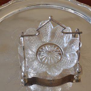 アンティークガラスのジャムディッシュ
