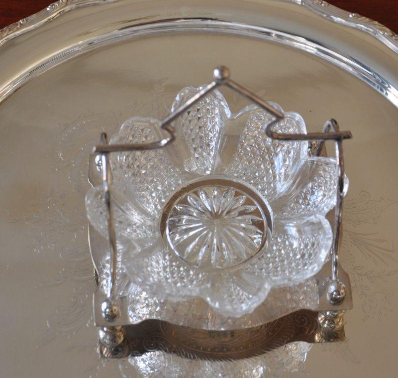 アンティーク ガラスのジャムディッシュ