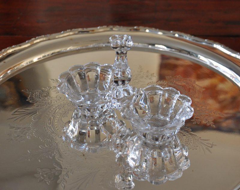 アンティークガラス ソルト ペッパー
