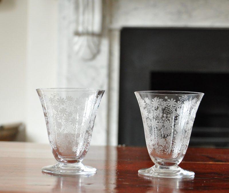 アンティーク バカラ エリザベート デカンタ&グラス