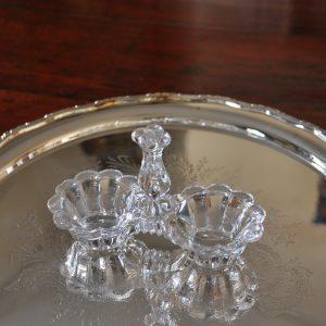 アンティークガラスのソルト&ペッパー