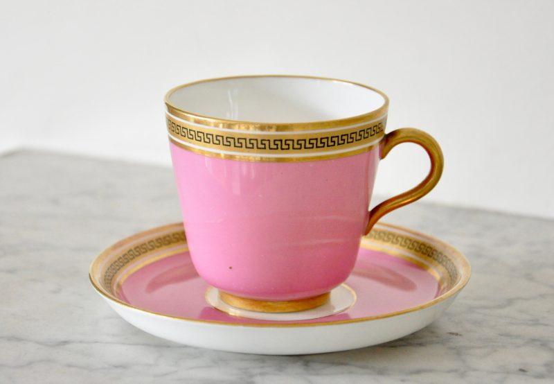 ピンク ビクトリアン アンティークカップ